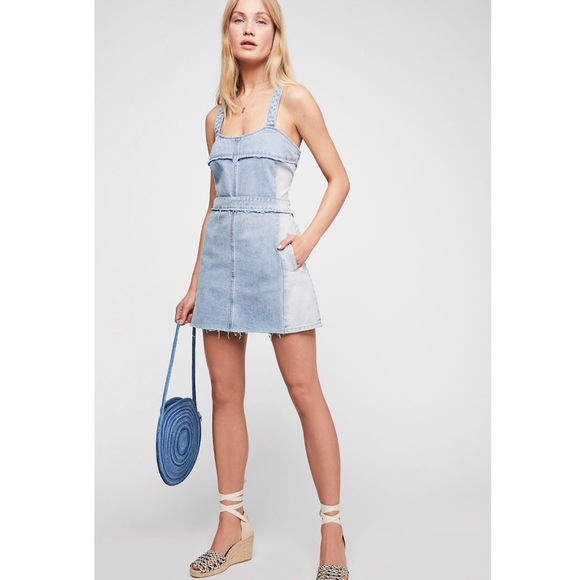 Free People Dresses & Skirts - NWT FREE PEOPLE x BLANK NYC | denim dress M